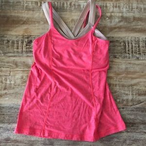 Lululemon Pink Tank w/ Built in Bra